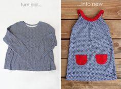turn shirt into dress