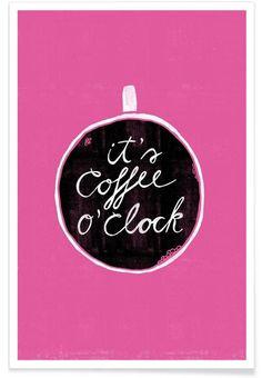 Coffee als Premium Poster von typealive   JUNIQE
