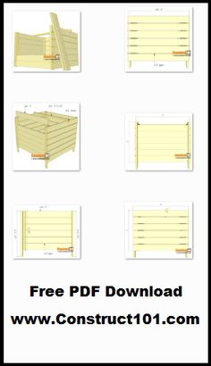 Compost bin plans, free PDF download, includes step-by-step instructions, drawings, measurements, shopping list and cutting list. Step By Step Instructions, Sheds, Compost, Barns, Conditioner, Pdf, How To Plan, Architecture, Drawings