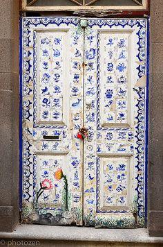 Door art, Funchal old town | See my Album 'Funchal Doors' fo… | Flickr