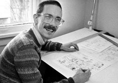 Bill Watterson (born July 5, 1958) graduated from Kenyon College with a B.A. in Political Science. Before beginning to publish his popular Calvin and Hobbes comic strip, he worked briefly as a political cartoonist. The creator is known for his revolutionary design techniques and refusal to merchandise his characters or allow them to appear in an animated series. He has received two Reuben Awards for Cartoonist of the Year, Harvey Awards, and two Eisner Awards for Best Comic Strip Collection.