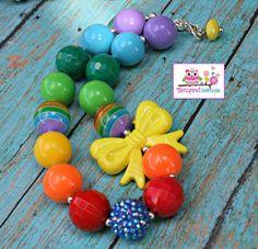 Rainbow+Bow+Bead+Bubblegum+Beads+Kids+by+TwinspiredBowtique,+$15.00