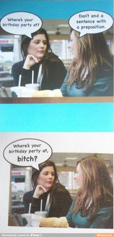 I can't resist a grammar joke.