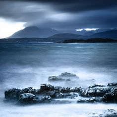 ARTFINDER: The Black Cuillin by Lynne Douglas - On the ancient island of Skye there stands an impressive mountainous ridge, The Black Cuillin. The last Scottish clan battle on Skye was fought on the slopes...