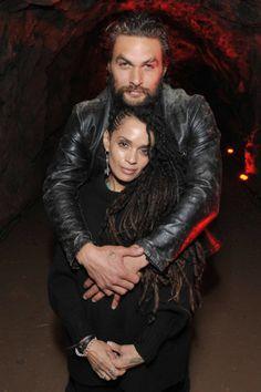 What a cute couple! Denise Huxtable and Khal Drogo. Jason Momoa and Lisa Bonet.