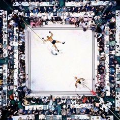 Picture of the day for June 04 2016 at 04:57PM from 'Daily Overview;  To honor a legend today I wanted to share this overview of Muhammad Ali celebrating his knockout of Cleveland Williams in 1966 /// Service to others is the rent you pay for your room here on Earth. - Muhammad Ali ///