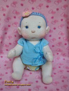 "Fretta: BeBe Cheeks, 16"" Jointed Soft Sculpture Baby Doll made by Fretta @ ""Fretta's Lovable Dolls"""