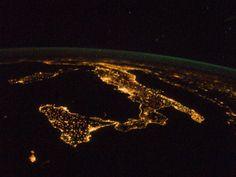 NASA - Night Lights of Italy