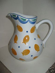 Herend Village Pottery Goldfish Pitcher Oven to Table Ware | eBay