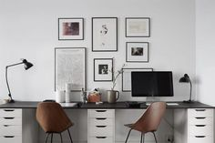 There is something about a two-seat workspace that I'm partciularly drawn to. Maybe it's the collaboration aspect or spending even working time together, but somehow this attracts me. This workspace i