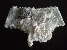 White crocheted choker