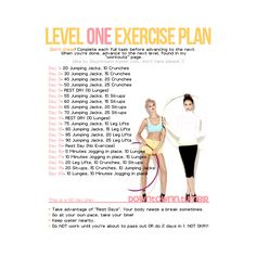 level one exercise plan found on Polyvore