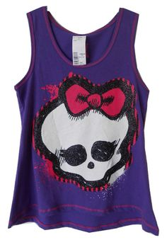 Monster High Skullette Purple Flowing Tank Top In Girl's Clothing Size M New Nwt #MonsterHigh #Everyday