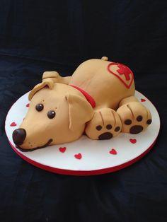 Golden Retriever Cake