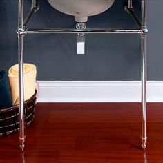 """Complete Brass Console Single Sink Stand - 60"""" Front Support - Console Sinks - Bathroom Sinks - Bathroom"""