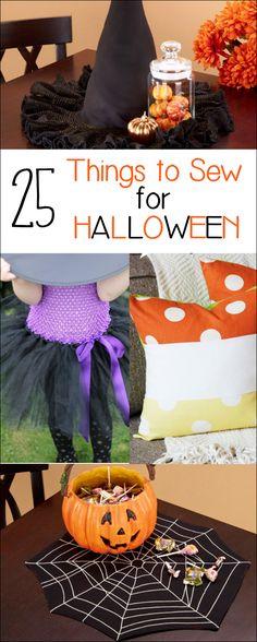 25 Fun Halloween Sewing Project Ideas