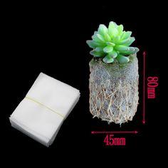 50 unids plantación vivero bolsas no tejidas bolsas de bolsas biodegradables ecológicos semillas de flores de plantas de cría