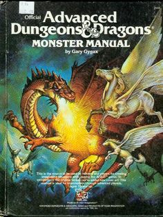 Advanced Dungeons and Dragons Monster Manual by Gary Gygax. AD&D Monster manual. Dungeons And Dragons Books, Advanced Dungeons And Dragons, Gary Gygax, Pen And Paper Games, Player's Handbook, Dungeon Master's Guide, D Book, Forgotten Realms, Dragon Games