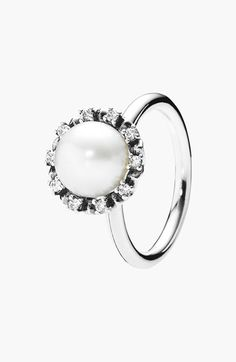 PANDORA 'Everlasting Grace' Pearl Cocktail Ring available at #Nordstrom