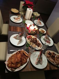 Christmas table. Lot of food  #christmas #dinner #christmaseve