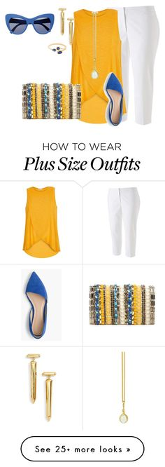 """plus size simple and chic summer tank look"" by kristie-payne on Polyvore featuring Apt. 9, River Island, Alice + Olivia, STELLA McCARTNEY, J.Crew, Rachel Zoe and Prism Design"