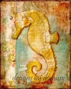 Dominy Alderman-Seahorse Art Print-Secret Dream Keeper