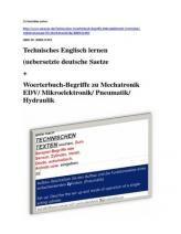 deutsch-englisch Fachtext-Suche aus: Elektrotechnik/ Elektronik/ Automation/ Sensorik/ Pneumatik EDV