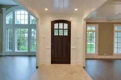 Solid Wood Front Entry Doors in-Stock | Classic  French Solid Wood Front Entry Door - Clear Beveled Glass DB-112WA - Glenview Doors - Custom Doors in Chicago