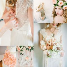 Soft Peach Wedding Inspiration | Elizabeth Anne Designs