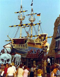 The Skua was the Pirate Ship in the back of Hunt's Pier. Remember walking through the spinning barrel, or the tilted room? And it was right over the ocean back then, so it felt like the boat had just washed ashore, reeking of adventure and haunted by Jolly Roger types.