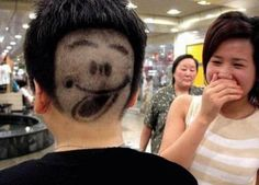 weird hairstyles | Weird Funny Hairstyles Weird-hairstyles-with-smiley – All Weird ...