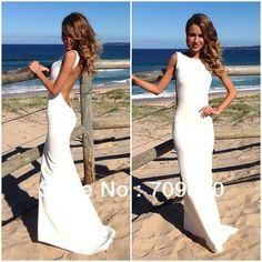 Satin Sheath Formfitting bateau Neck Coral Mermaid Evening Dress Long Backless Wedding Event Dress $104