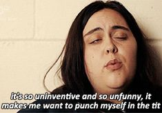 She has an excellent line in put-downs. | 15 Reasons You Want Rae From My Mad Fat Diary To Be Your Best Friend