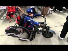 Jeremy in his wheelchair as Captain America! - YouTube