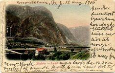 Sogn og Fjordane fylke Lærdal kommune  Blaaflat brukt 1906 Utg Mittet