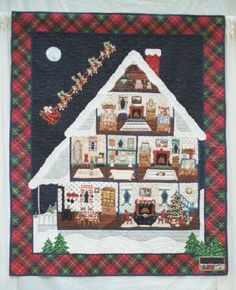 'Twas the Night Before Christmas by Linda Cantrell, 1996.  Southern Highland Craft Guild - Member Gallery