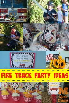 Fire Truck Party Ideas Mama Cheaps - Here comes the FIRE TRUCK in this fun birthday party post!  Check out some DIY inspiration for hosting a fire truck birthday party that's sure to be a hit with YOUR little firefighter!