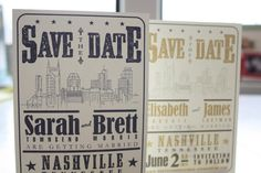 Nashville Skyline Hatch Style Save the Date Postcard-- think we're gonna do this, y'all. So don't tell me if you hate it :) Next Wedding, Wedding Save The Dates, Dream Wedding, Wedding Album, Wedding Season, Wedding Stuff, Custom Invitations, Invitation Design, Wedding Invitations