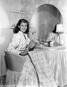 Mrs Rita Hayworth. A classic dressing table from the 40's.