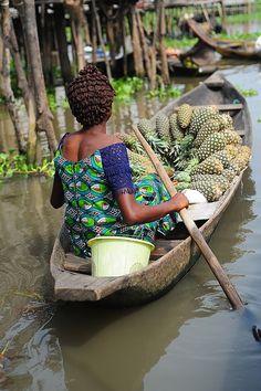 Pineapple shop in Ganviè, Benin
