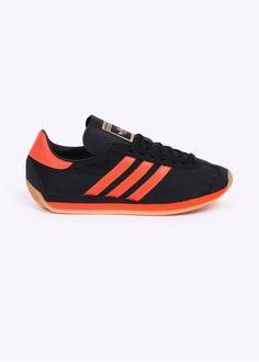 adidas Originals Country OG Trainers - Black / Orange