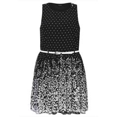 PRE-ORDER - Black And White Polka Dot Skater Dress With Floral Border $91.00 http://www.curvyclothing.com.au/index.php?route=product/product&path=95_105&product_id=8275