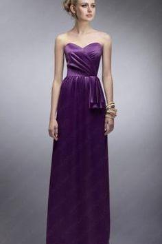 63e45c9a312 Chic Robe de Soiree Longue Elegante Col en Coeur Plisee RPV0076 Robe De Soirée  Violette