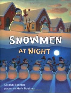 A great way to practice narrative writing.  Read this book to the class. Brainstorm a list of all the things the snowmen did at night.  Have students create their own activity.  They write 3 paragraphs, developing the characters in the first, describing the snowman's activity and a problem faced in the second and solving the problem in the third.  You can add an art element to this by having students design a snowman doing their nighttime activity.