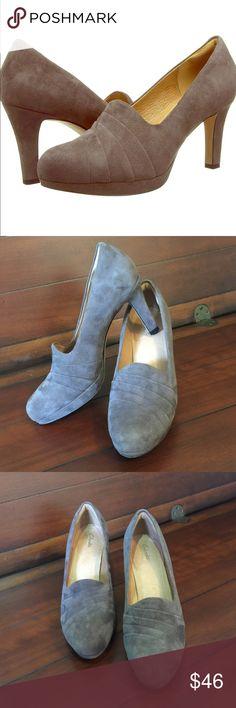 0cee75c33e38 Clarks Women s Heels Clarks Women s  Delsie Joy  Dress Pump. Suede Leather