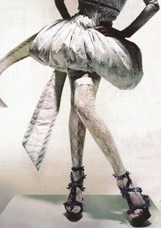 """Alexander McQueen Spring/Summer 2005 in """"Unbelievable Fashion"""" for Vogue UK December 2008 photographed by Nick Knight"""