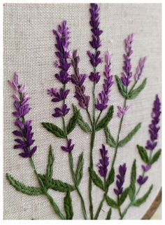 Lavender Embroidery Hoop-botanical embroidery- Wildflowers embroidered-Embroidered Lavender- Home Gift - Hand Embroidery Art Floral Embroidery Patterns, Embroidery Flowers Pattern, Hand Embroidery Stitches, Embroidery Hoop Art, Hand Embroidery Designs, Crewel Embroidery, Creative Embroidery, Simple Embroidery, Embroidery On Clothes