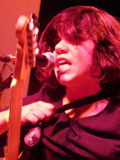 Marissa Paternoster of Screaming Females on Sept. 16, 2016, at Convention Hall in Asbury Park.  Bob Makin/staff photo