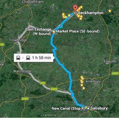 Percorso Salisbury - Beckhamptpm