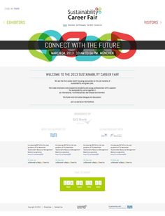 Sustainability Career Fair Website by Rana Elgohary, via Behance